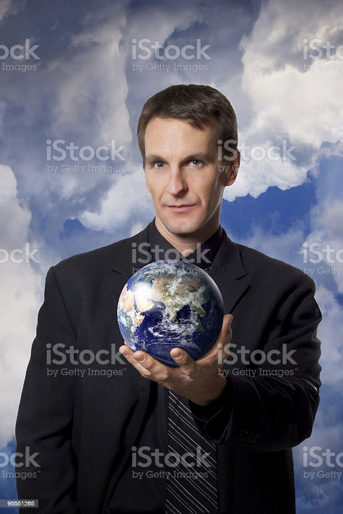 Future of the world is in our hands stock photo