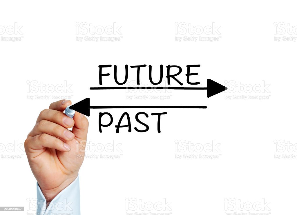 Future or Past stock photo