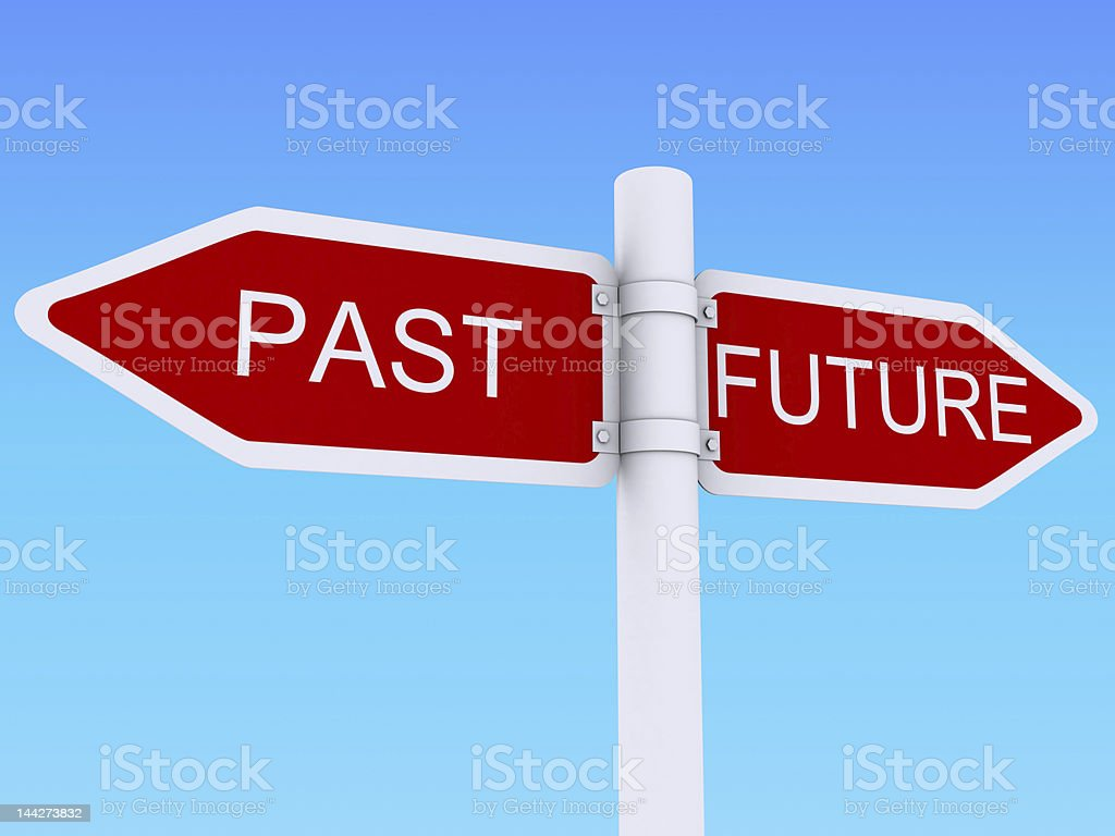 Future past sign post royalty-free stock photo
