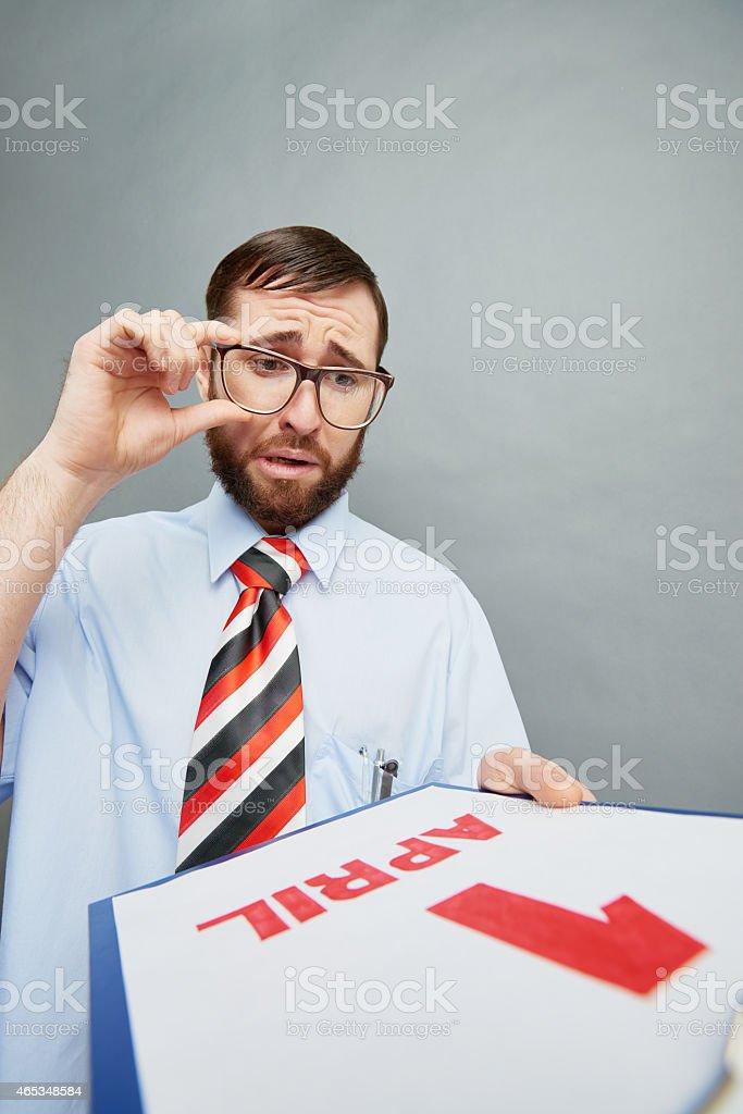 Future prank victim stock photo