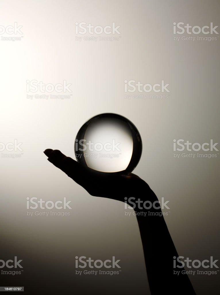 Future Prediction in your Hand stock photo