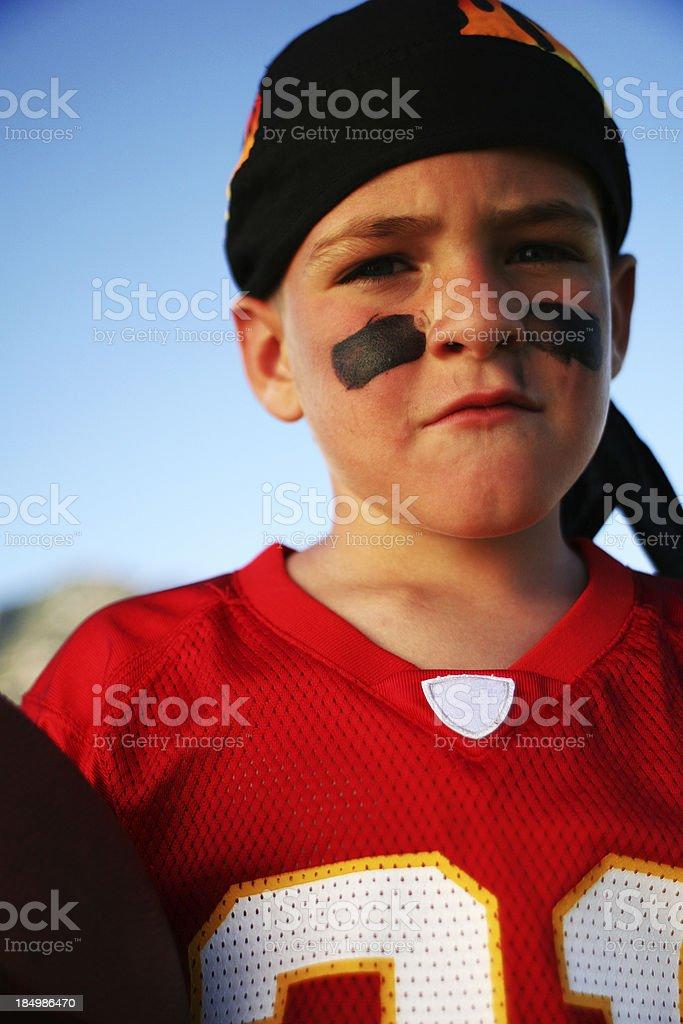 Future Quarterback Portrait royalty-free stock photo