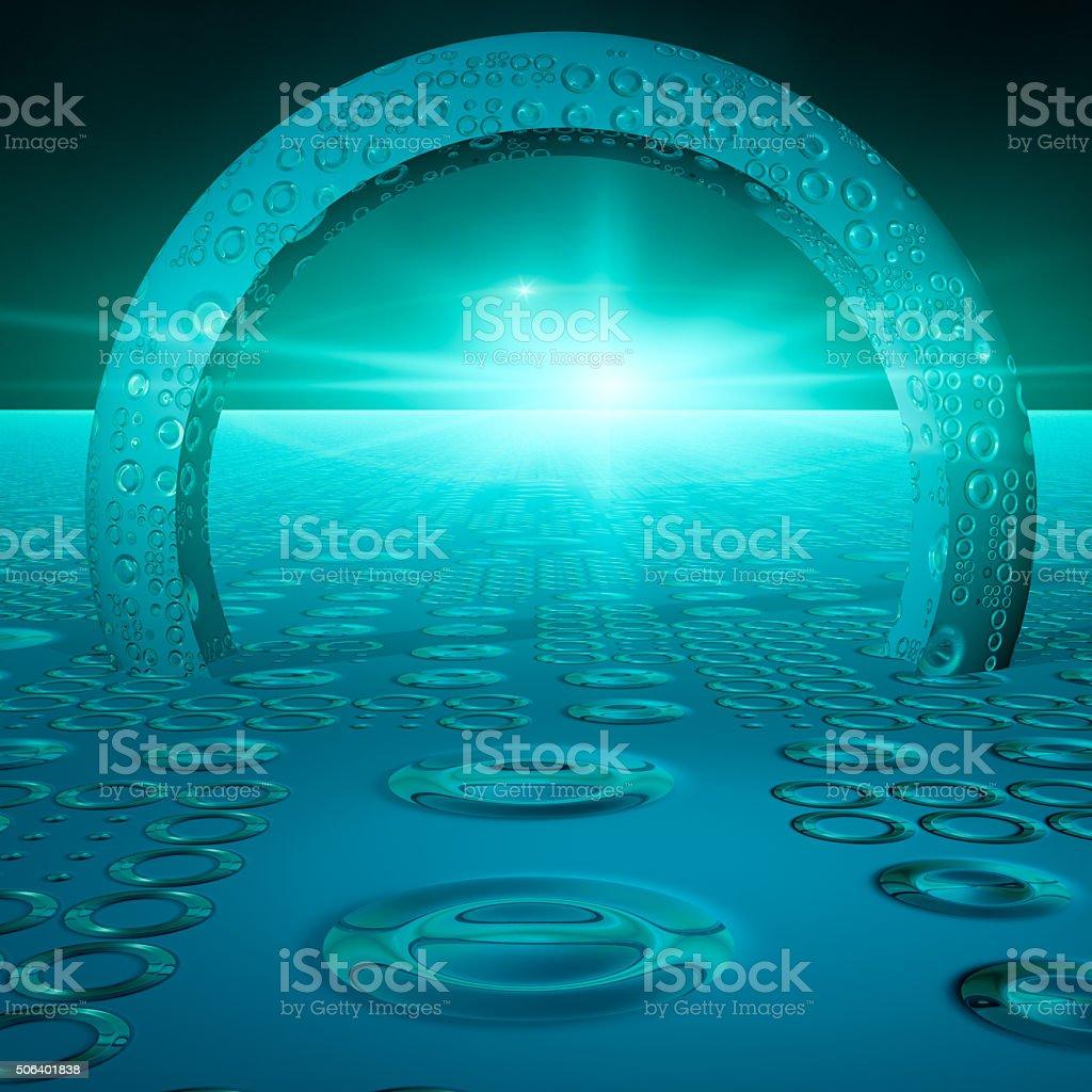 Future Technology Gate stock photo