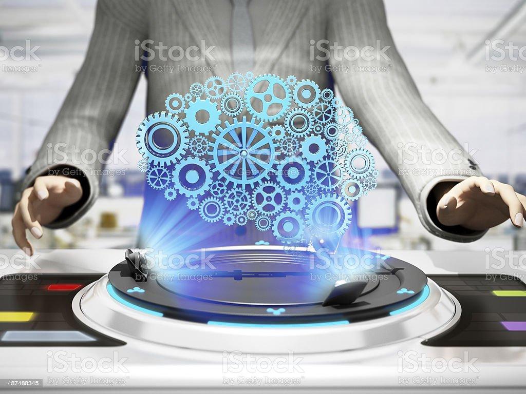 Future technology stock photo