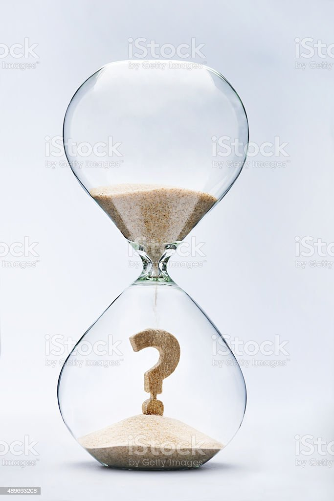 Future uncertainty stock photo