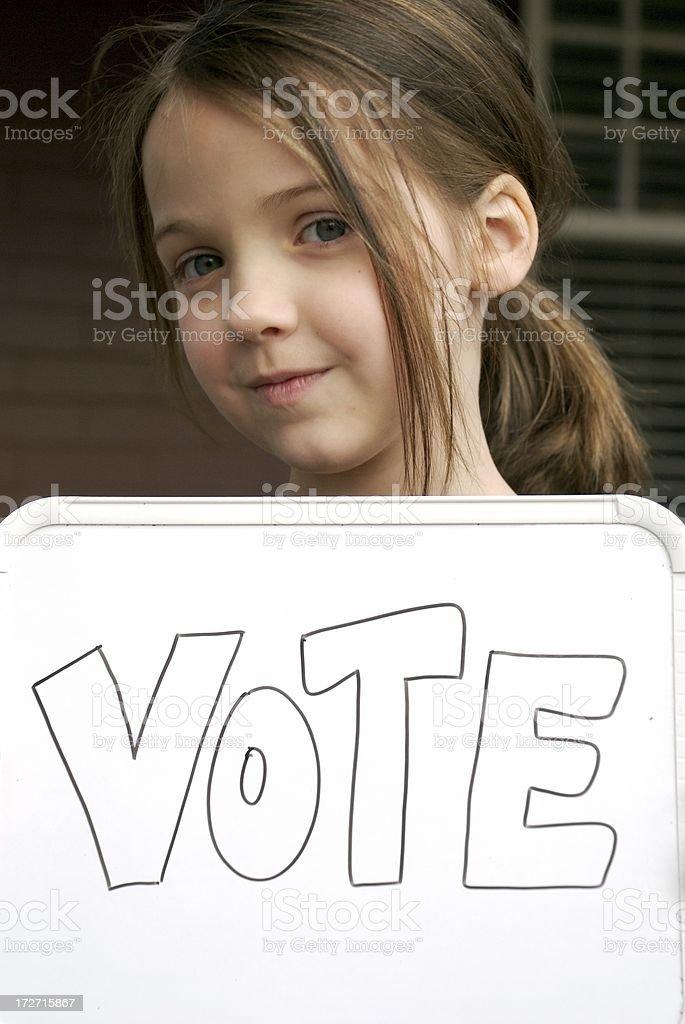 Future Voter royalty-free stock photo
