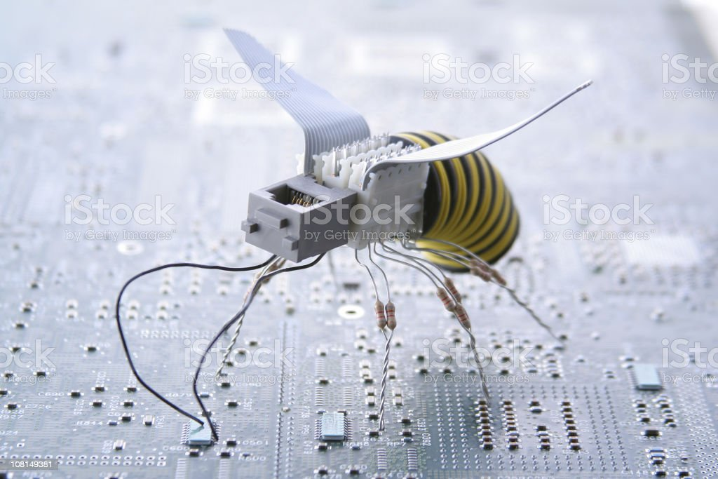 Future Wasp stock photo