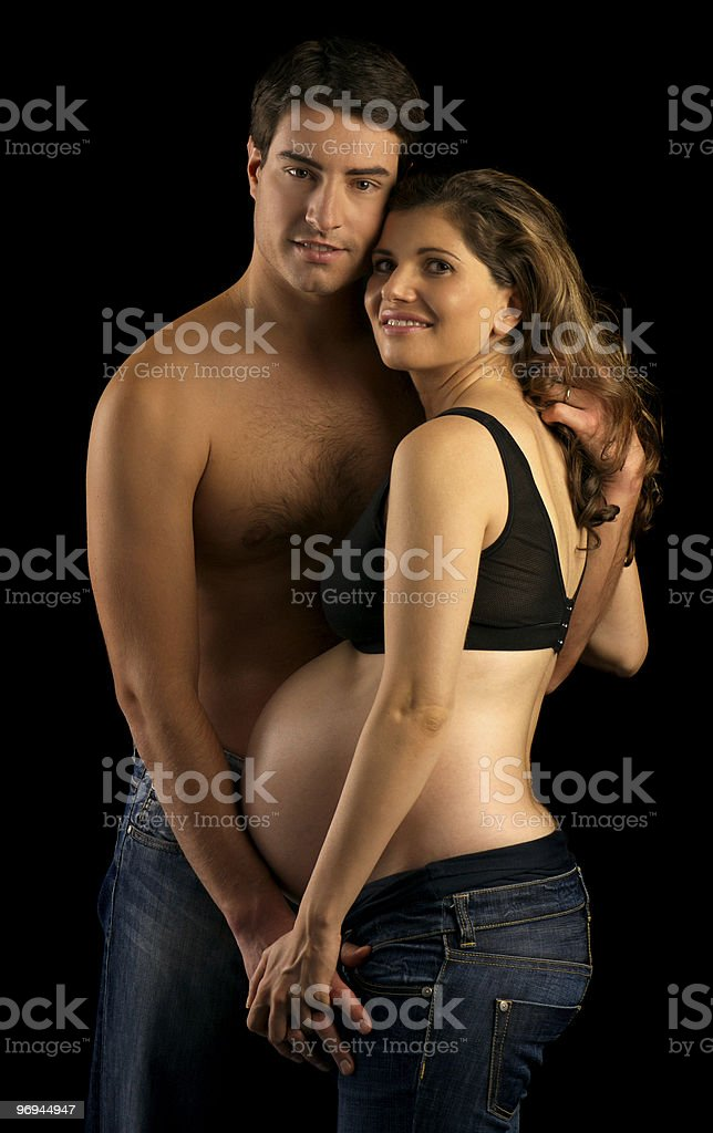 Future Young Parents stock photo