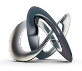 Futuristic 3d Infinity Shape