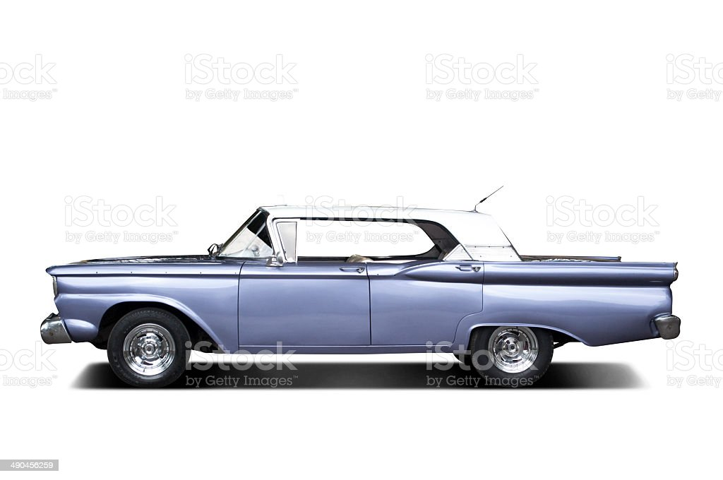 Futuristic 60's car royalty-free stock photo