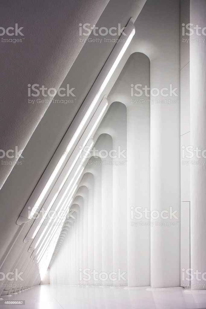 Futuristic abstract architectural lines. Modern Spaces stock photo