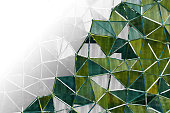 Futuristic Abstract Background with triangle  pattern