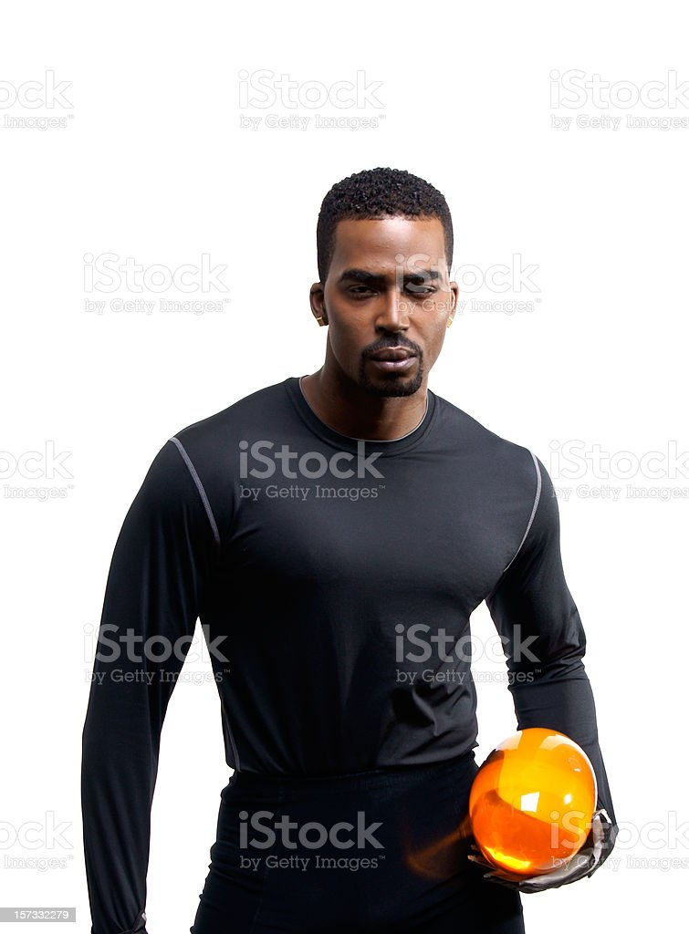 Futuristic American Football Player royalty-free stock photo
