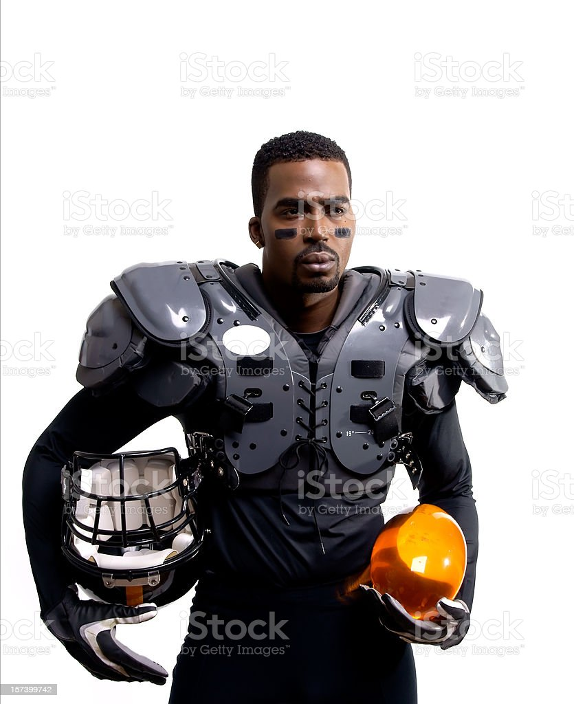 Futuristic American Football Player With Pads royalty-free stock photo