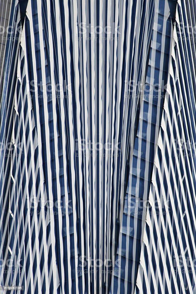 Futuristic architecture. Digitally composed photo of high-rise building / skyscraper stock photo