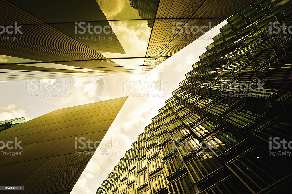 Futuristic Architecture in London royalty-free stock photo