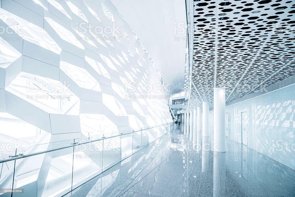 Futuristic Architecture - modern transportation building stock photo