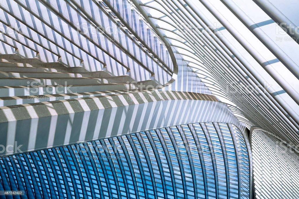 Futuristic Architecture of Modern Railroad Station stock photo