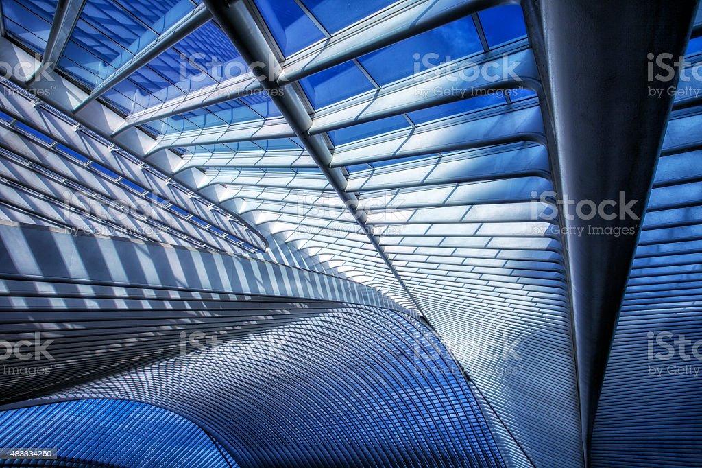 Futuristic Architecture of The Futuristic Railroad Station stock photo