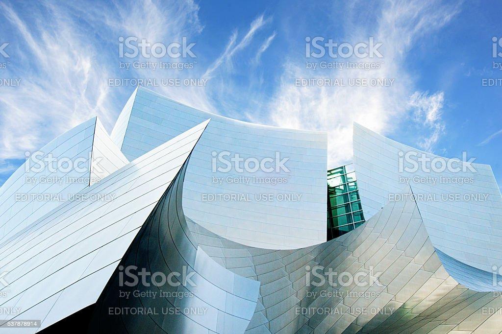 Futuristic Architecture of Walt Disney Concert Hall, Los Angeles stock photo