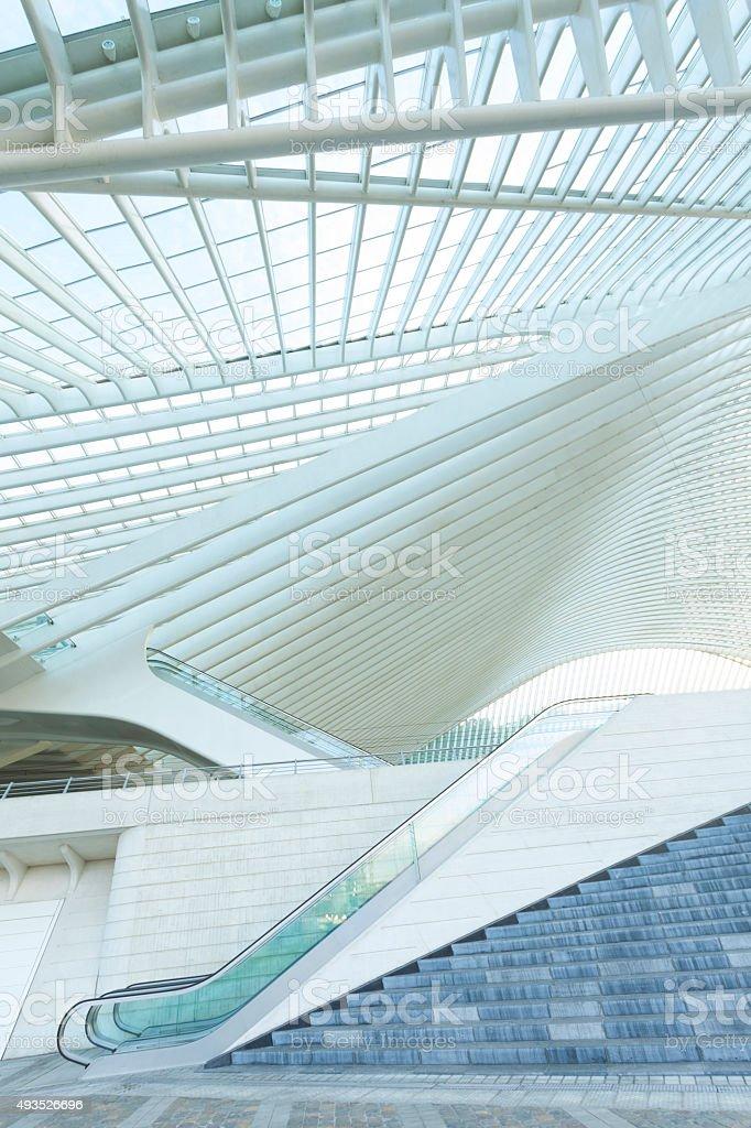 Futuristic Architecture with Escalator stock photo