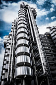 Futuristic Architecture with Famous Lloyd's Building, London