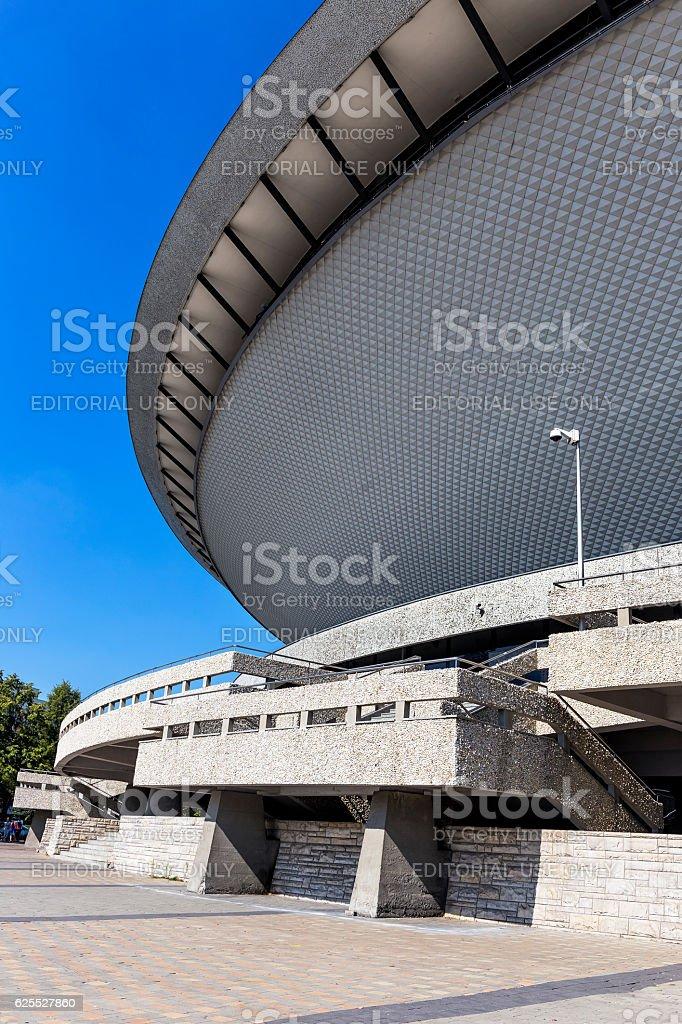 Futuristic arcitecture, Katowice, Poland stock photo