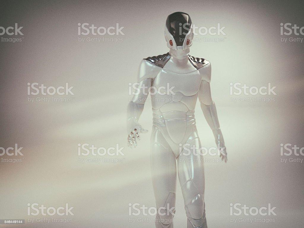 Futuristic astronaut stock photo