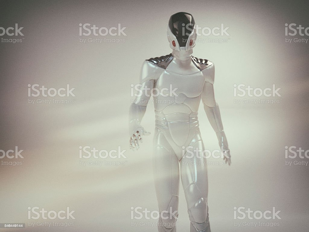 Futuristic astronaut stock photo