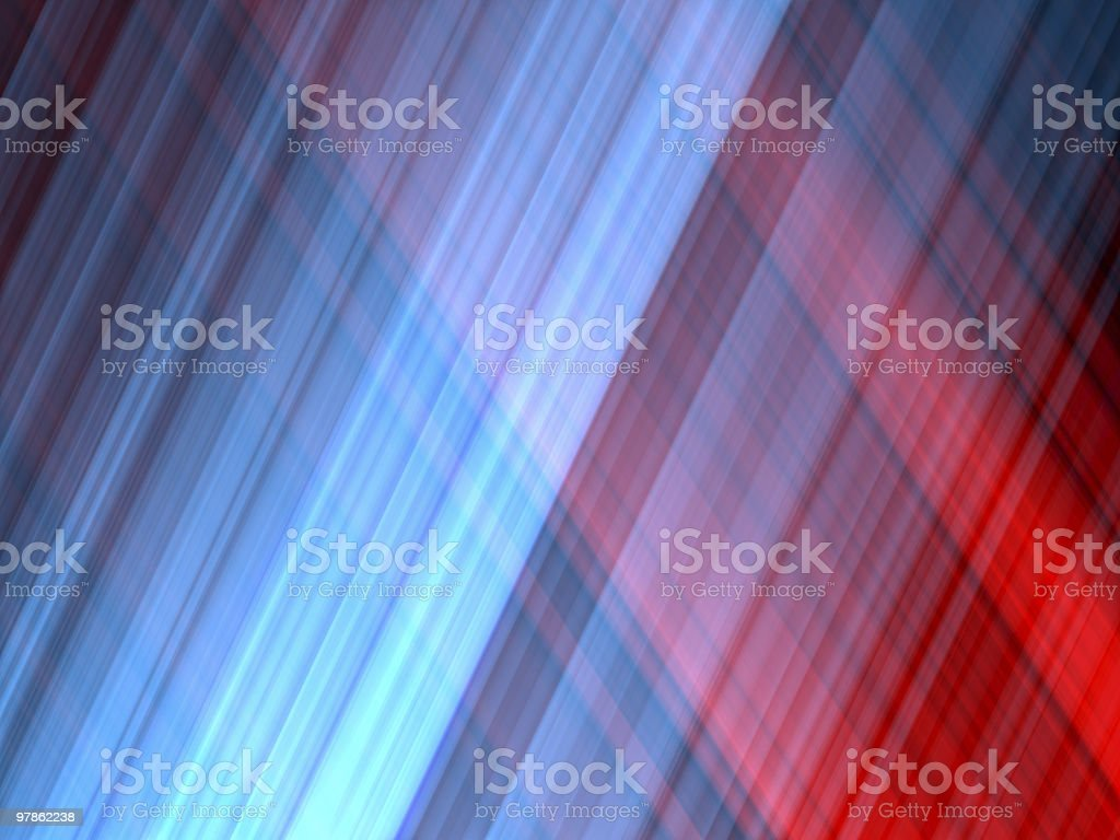 Futuristic background with intertwining blue and red lights royalty-free stock photo