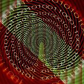 Futuristic binary code design with circular patterns