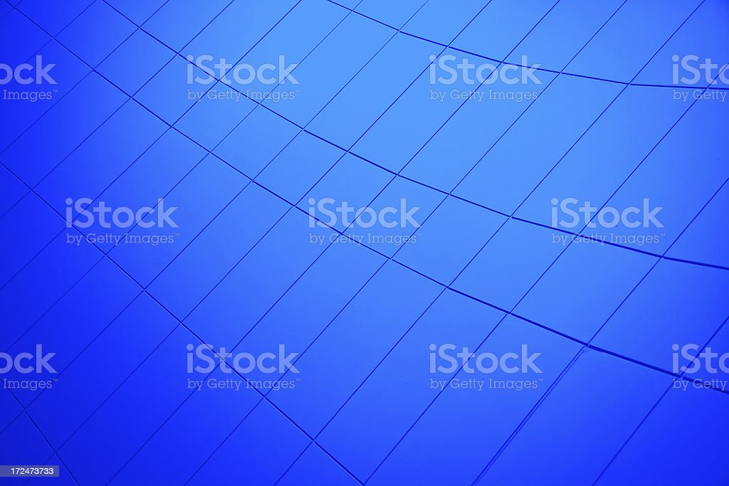 Futuristic Blue Wall royalty-free stock photo