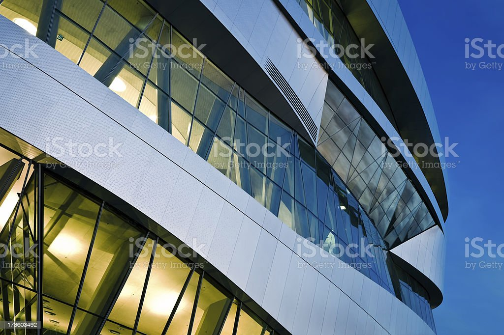 Futuristic Building at Night royalty-free stock photo