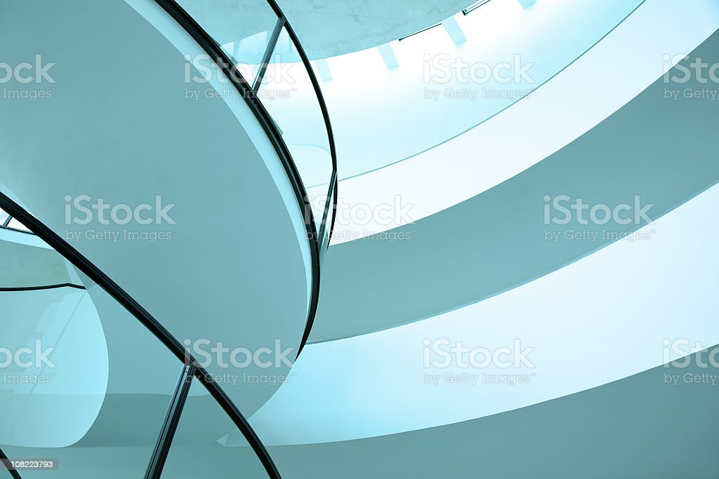Futuristic Building Interior royalty-free stock photo