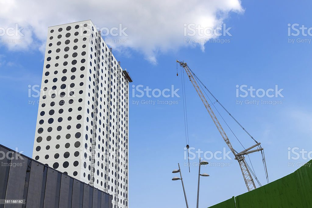 Futuristic building under construction royalty-free stock photo