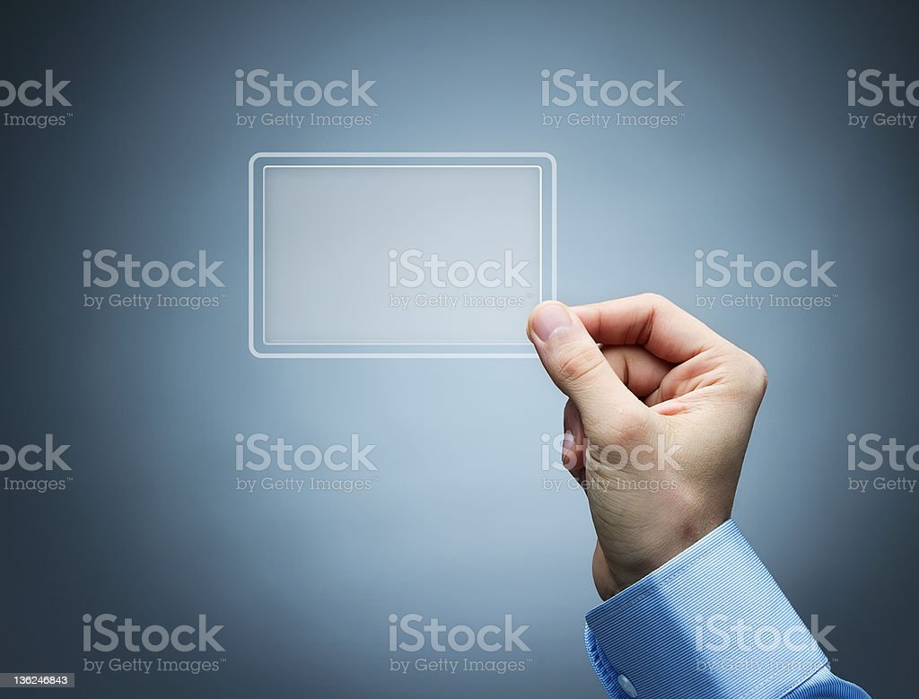 Futuristic business card with copy space royalty-free stock photo
