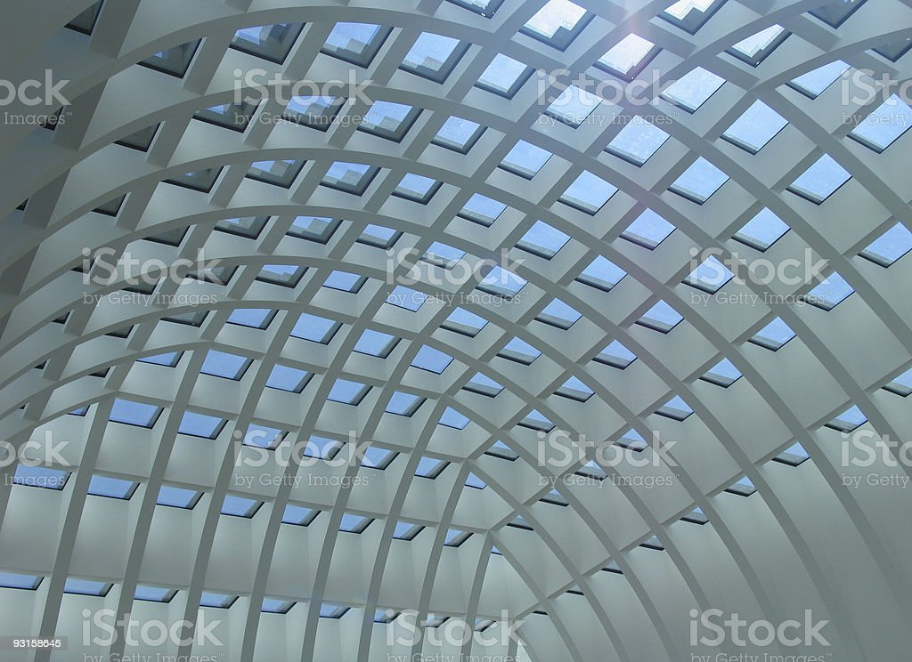futuristic ceiling 2 royalty-free stock photo