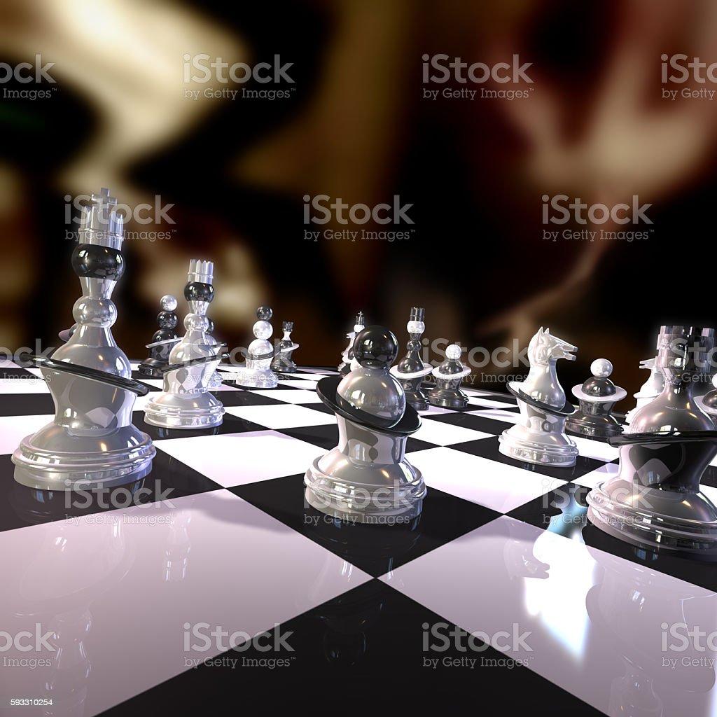 Futuristic Chess stock photo
