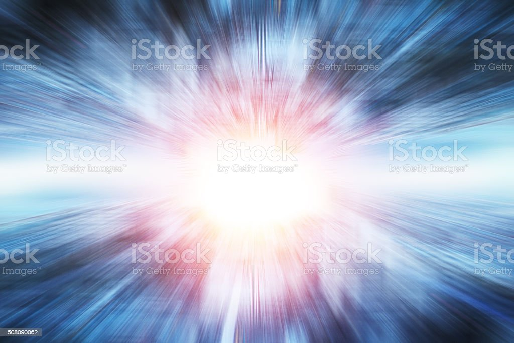 Futuristic city abstract background stock photo
