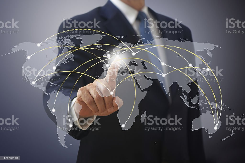 Futuristic Communication royalty-free stock photo