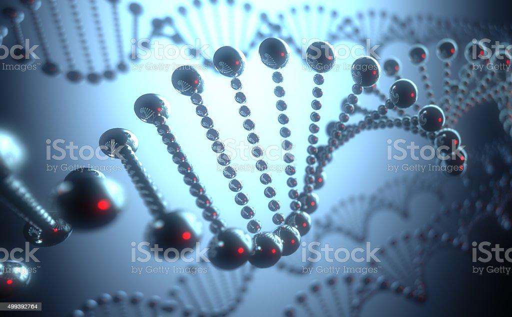 DNA Futuristic Concept stock photo