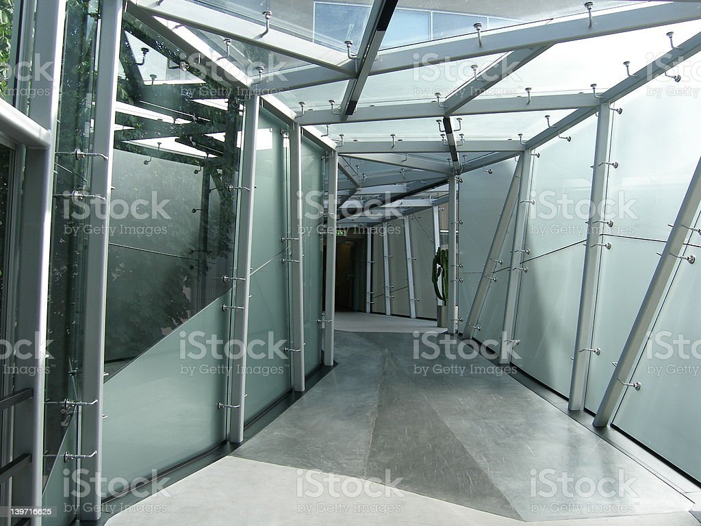 Futuristic corridor royalty-free stock photo