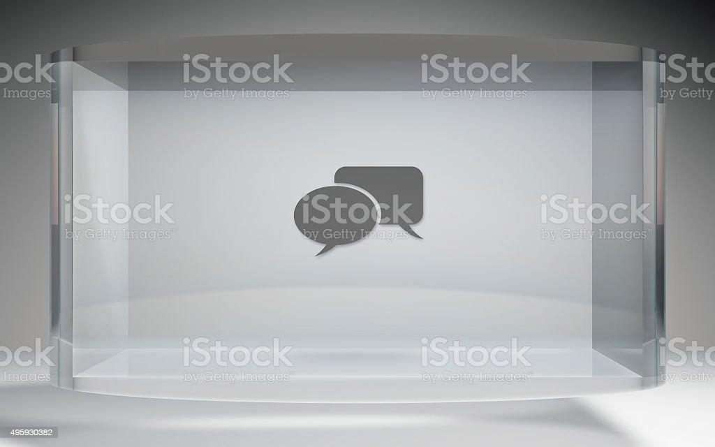 futuristic crystal display social network stock photo