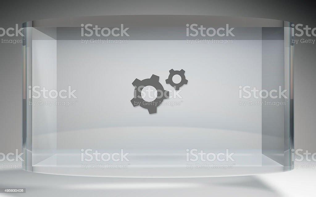futuristic crystal display tools stock photo