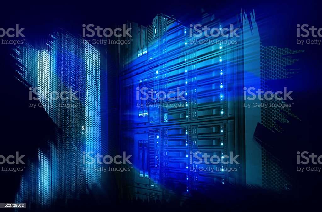 futuristic design art design of mainframe in  data center stock photo