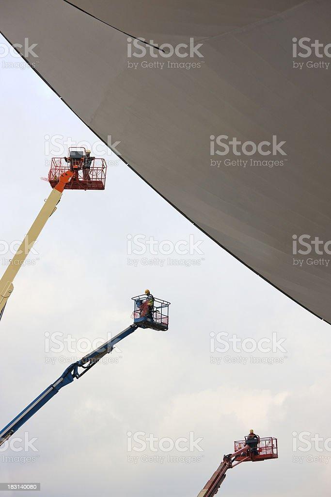 Futuristic design construction site. stock photo