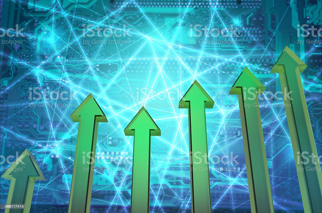 Futuristic Developing Chart stock photo