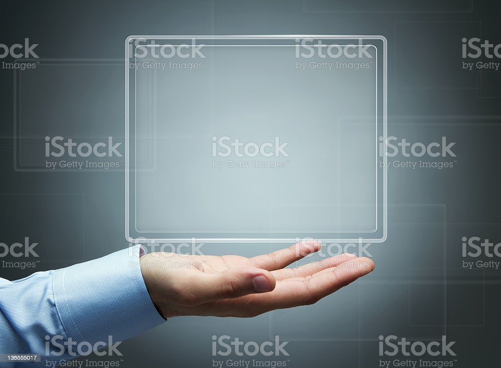 Futuristic digital display with copy space royalty-free stock photo