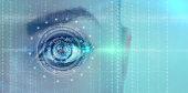 futuristic digital eye