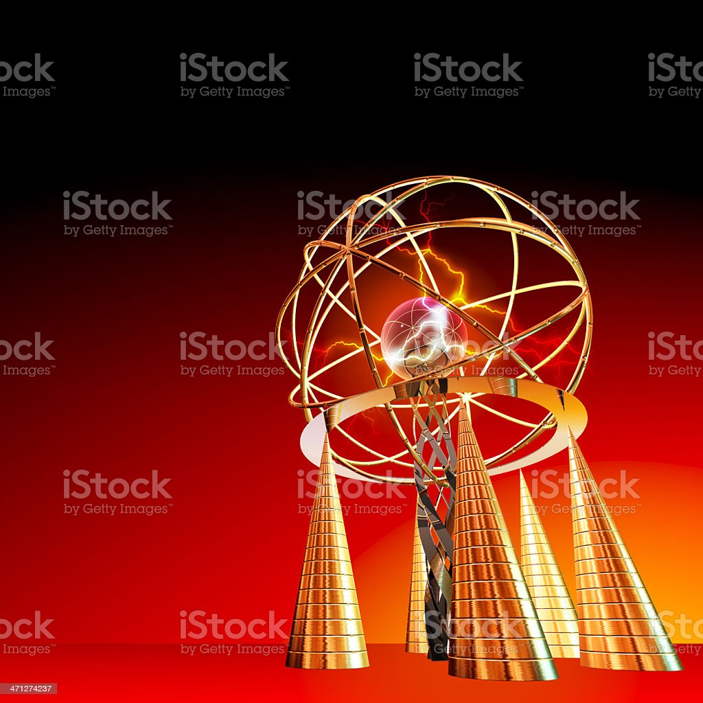 Futuristic energy generator royalty-free stock photo